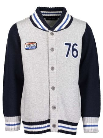 Blue Seven sweter chłopięcy, 92, szary/niebieski