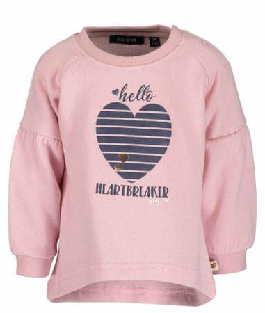 Blue Seven dziecięcy sweter z sercem, 62, różowy