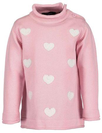 Blue Seven dziewczęcy sweter w serduszka, 62, różowy