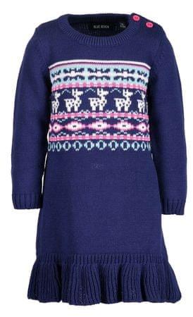 Blue Seven dívčí pletené šaty 62 modrá