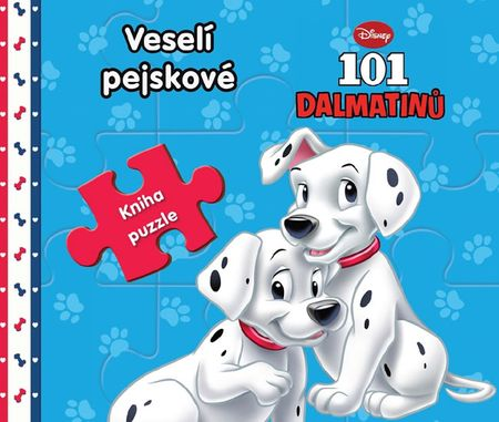 Disney Walt: 101 dalmatinů Veselí pejskové - Kniha puzzle