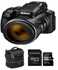 Nikon fotoaparat COOLPIX P1000 + SDHC kartica, 32GB + torba Manfrotto MA-SB-6