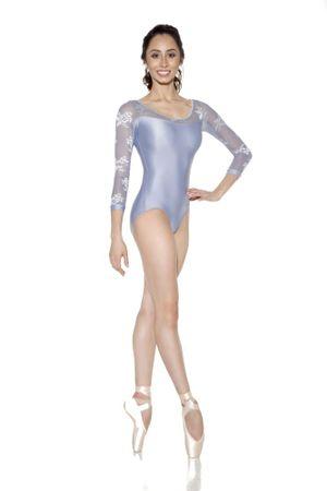 SoDanca Baletný dres E-11207, L, oceánová modrá