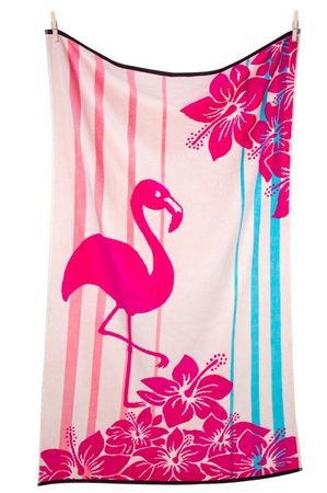 Svilanit brisača za plažo Flamingo