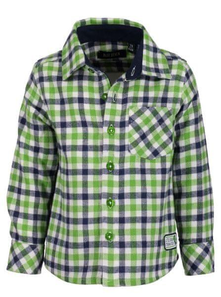 Blue Seven chlapecká kostkovaná košile 62 modrá zelená 2a30162cb3