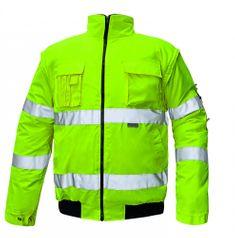 Cerva Zimná nepremokavá reflexná bunda Clovelly 2v1 žltá XL