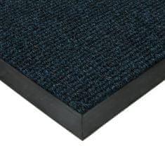 FLOMAT Modrá textilní zátěžová čistící vnitřní vstupní rohož Catrine, FLOMAT - 1,35 cm