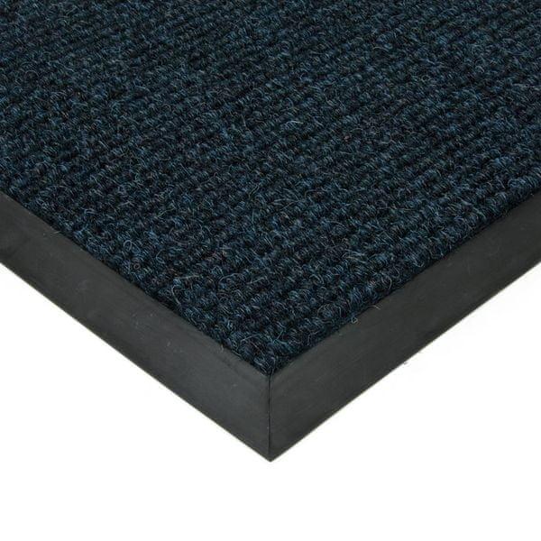 FLOMAT Modrá textilní zátěžová čistící rohož Catrine - 500 x 300 x 1,35 cm