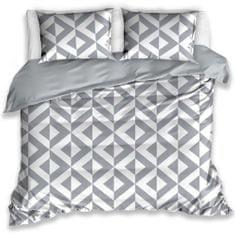 BedTex posteljnina iz bombaža CikCak, siva, 140x200 / 70x90