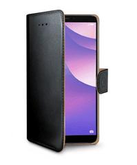 Celly Pouzdro typu kniha pro Huawei Y7 (2018)/Y7 Prime (2018), PU kůže, černé WALLY762