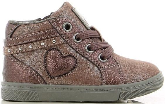 V+J dívčí kotníčková obuv 24 hnědá b126a0a2c8