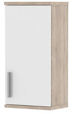 LINNDA, skříňka horní LI04, dub sonoma/bílý lesk