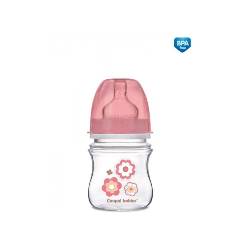 Canpol babies Láhev NEWBORN BABY 120ml, Růžová
