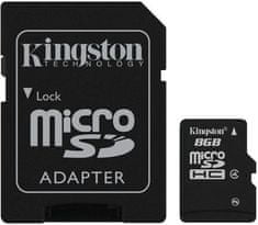 Kingston Micro Secure Digital (microSD) kartica 8GB + adapter SD