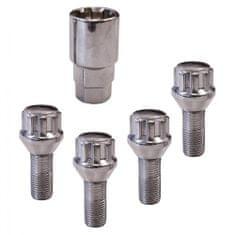 CarPoint Pojistné šrouby kol M12 × 1,25 × 26 mm Conical