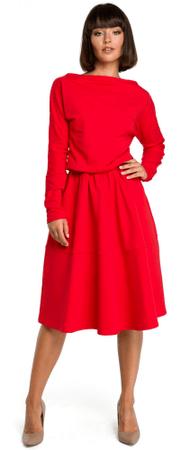 77e7aef2625b BeWear dámské šaty XL červená