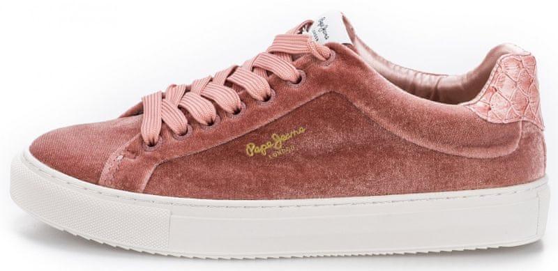 Pepe Jeans dámské tenisky Adams Velour 36 růžová 5242923f0a5