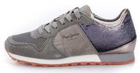 Pepe Jeans ženski čevlji Verona W New Sequins, sivi, 38