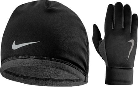 1612c8dc08c Nike Men S Run Thermal Hat And Glove Set Black Anthracite Silver L ...