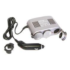CarPoint Roztrojka 12V - s kabelem Lux 10A a LED kontrolkou černá