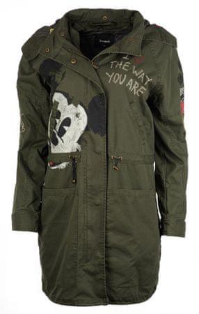 Desigual dámský kabát Norma 38 zelená  2a11b4aaf5