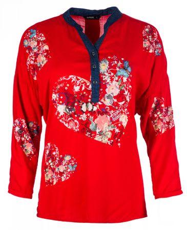 Desigual bluzka damska Temis, XS, czerwona