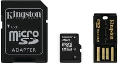 Kingston Micro Secure Digital (microSD) kartica 8 GB + SD adapter (MBLY4G2)