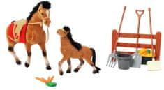Mac Toys Kôň 19 cm a 13 cm s príslušenstvom