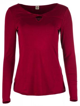 Timeout ženska majica z dolgimi rokavi, rdeča, XL