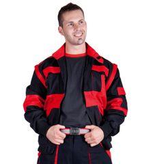 Max Bavlnená montérková bunda a vesta Max 2v1 čierna/červená 56