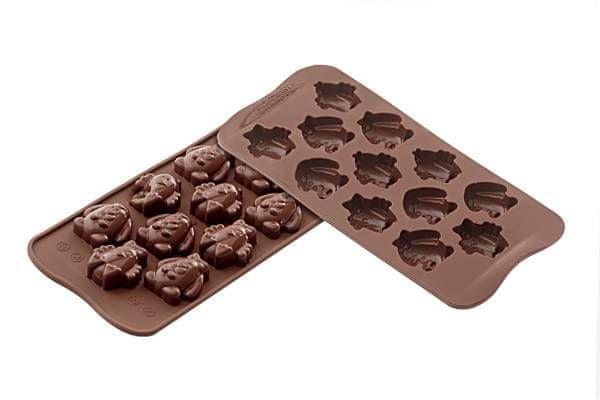 Silikomart Silikonová forma na čokoládu – velikonoční zvířátka