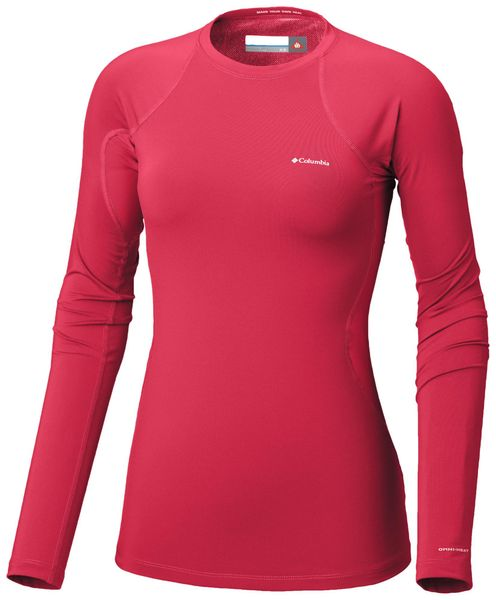 Columbia Midweight Stretch Long Sleeve Top Red Camellia M