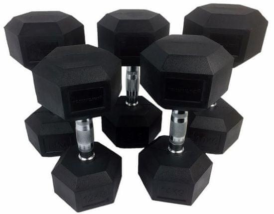 Tunturi set Heksagon uteži, 12-20 kg, 5 parov