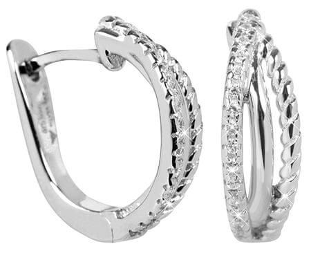 Silver Cat Stříbrné náušnice se zirkony SC252 stříbro 925/1000
