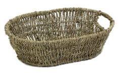 Domy ovalna košarica z ročaji, 34 x 24 x 10 cm