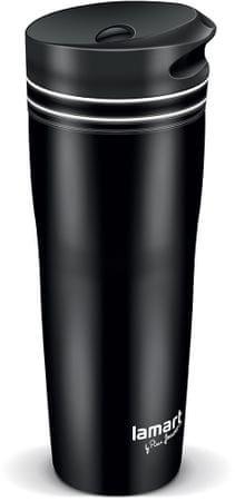 Lamart Termohrnček LT4049 MANQ 360 ml čierna/biela