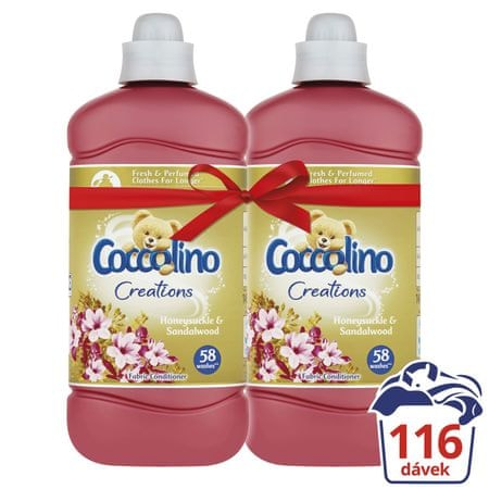 Coccolino Creations Honeysuckle & Sandalwood 2x 1,45 l