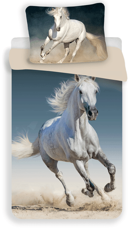 Jerry Fabrics posteljnina s potiskom konja 03