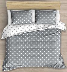 BedTex posteljnina s pikami, siva, 140x200/70x90