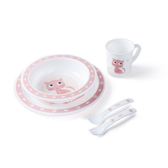 Canpol babies Plastová súprava s príborom CUTE ANIMALS
