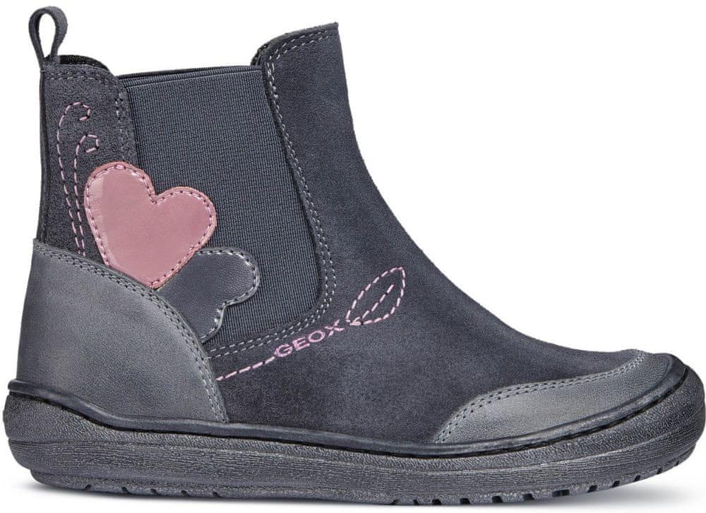 Geox dívčí kotníčkové boty Hadriel 34 šedá