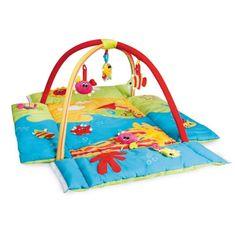 Canpol babies wielofunkcyjny kocyk do zabaw z podwyższoną krawędzią, Colorful ocean