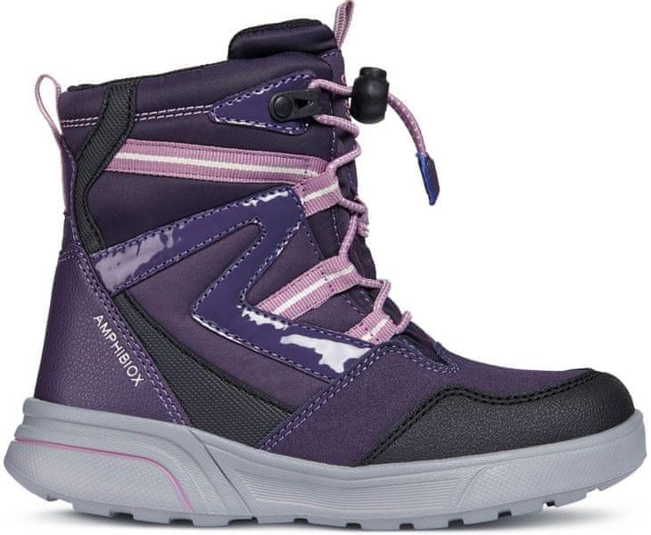 Geox dívčí zimní boty Sveggen 28 fialová
