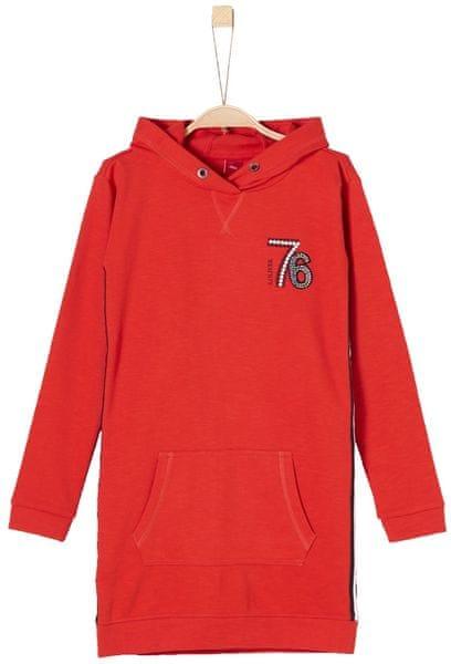 s.Oliver dívčí šaty s kapucí 164 červená