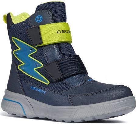Geox chlapecké svtící zimní boty Sveggen 35 modrá  f9e8637836