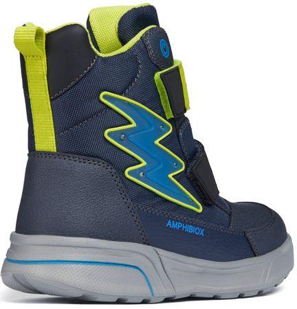 fbe5bd67376 Geox chlapecké svtící zimní boty Sveggen 28 modrá