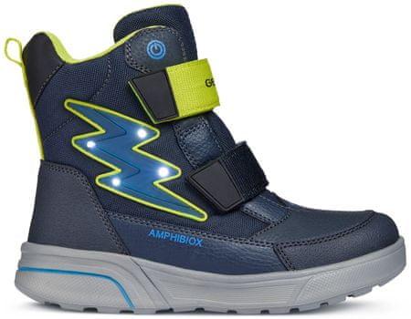 b8f0d5823f2 Geox chlapecké svtící zimní boty Sveggen 24 modrá