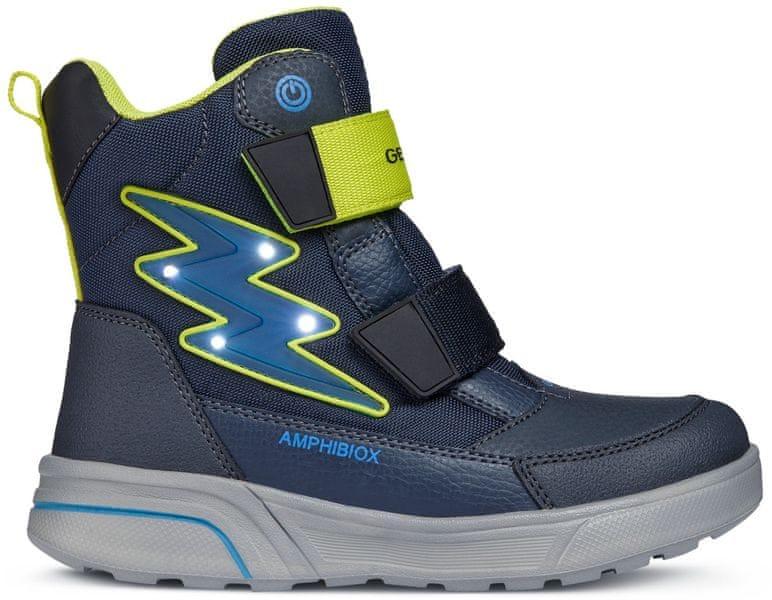 173464920fc Geox chlapecké svtící zimní boty Sveggen 24 modrá
