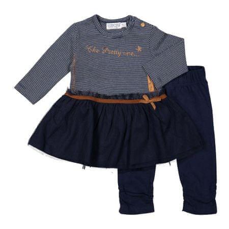 Dirkje dívčí kojenecký set s pruhy a tylem 62 modrá  fdb49d4723