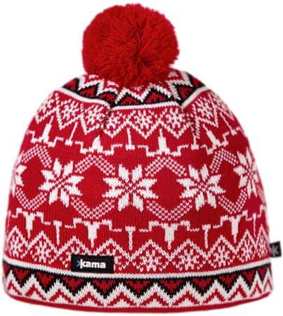 Kama pletena merino kapa Kama A106, rdeča